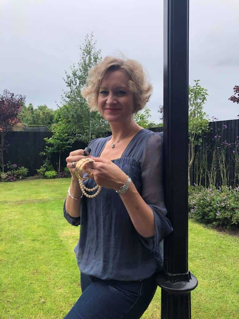Helen Dimmick with the jewellery left behind by her loved ones