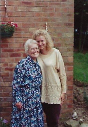Helen With Her Beloved Nana Annie, Helen Dimmick