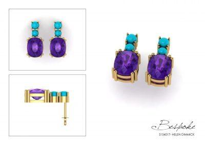 bespoke 18ct yellow gold earrings