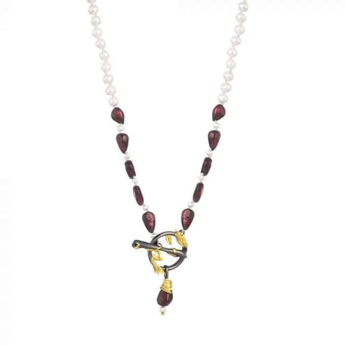 Artemisia Sterling Silver and Pearl Statement Necklace