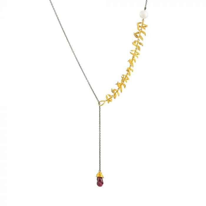 Artemisia Sterling Silver Garnet Necklace
