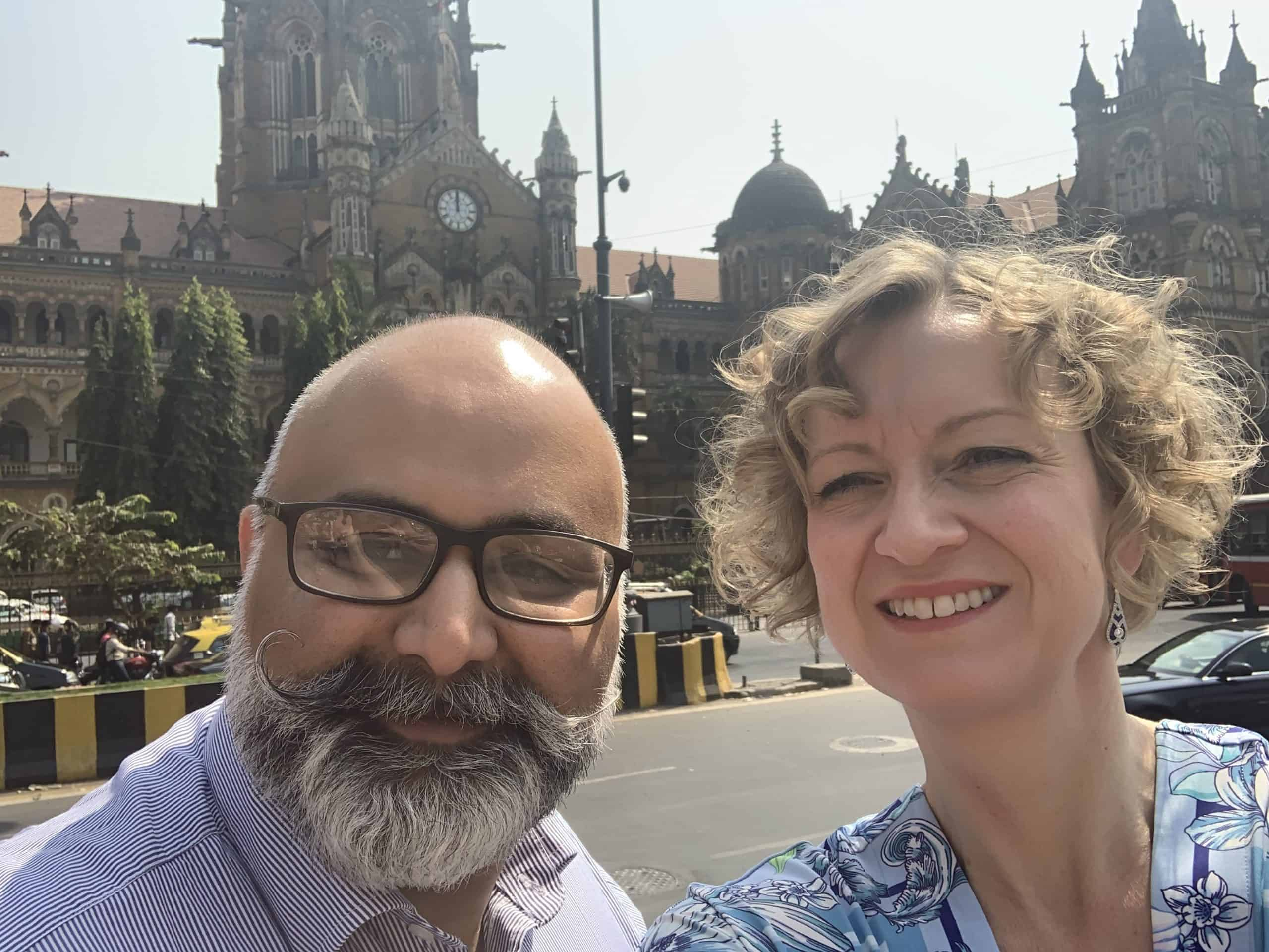 Helen with Jayant