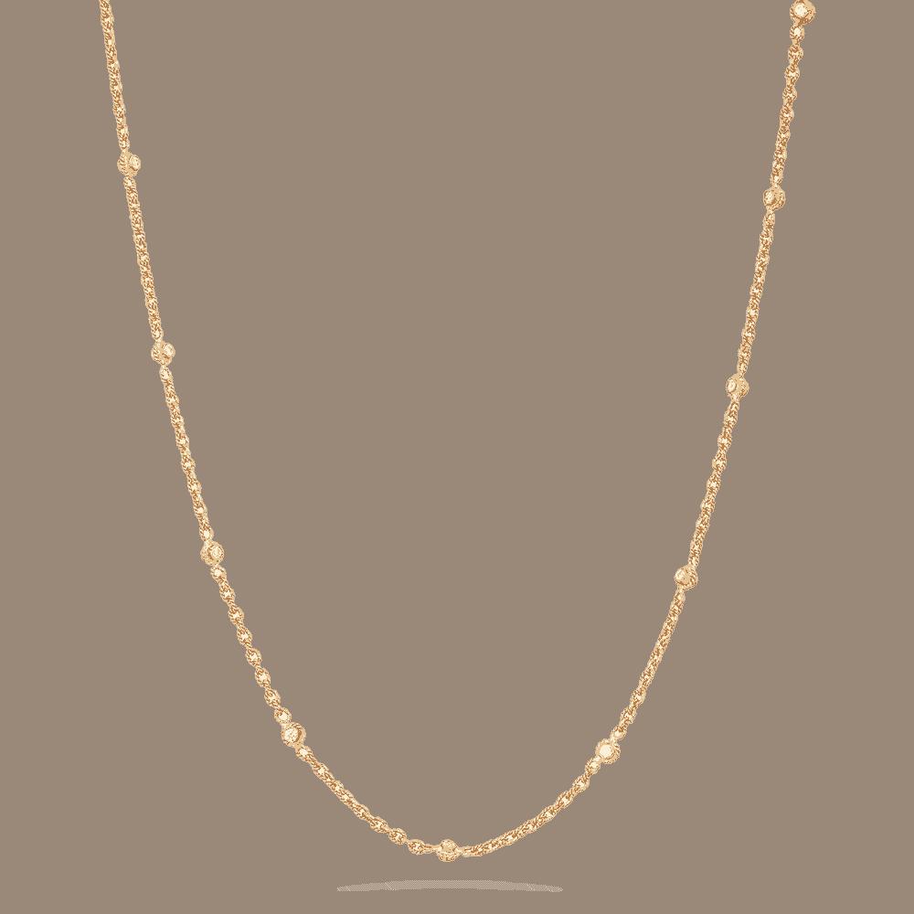 22 Carat Gold Chain with Polki Stones
