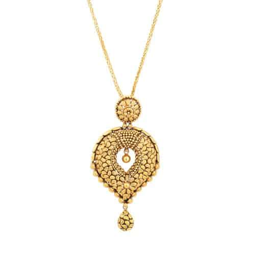 22ct Real Gold Pendant with Antique Finish