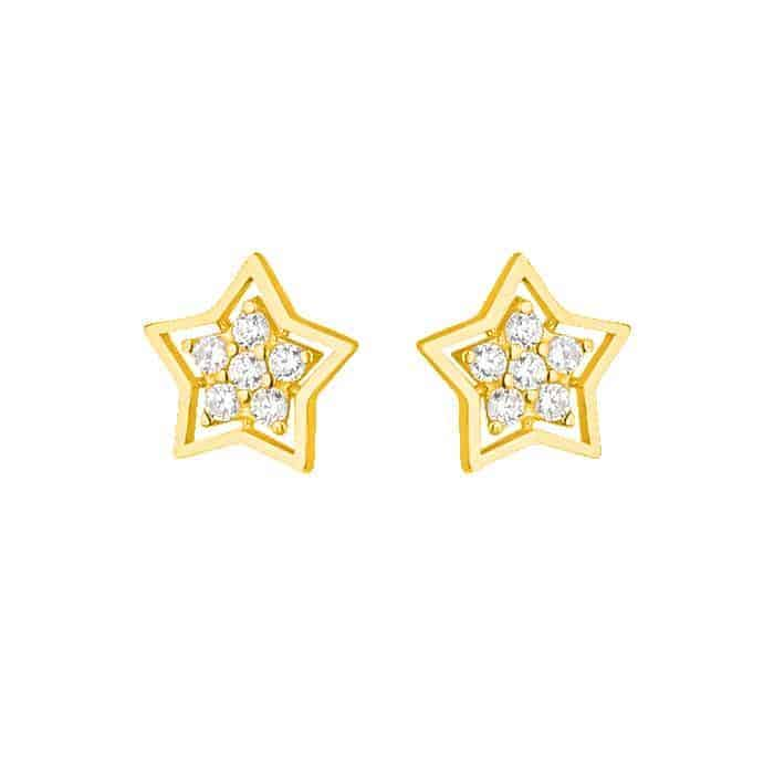 22ct Gold Star Earring