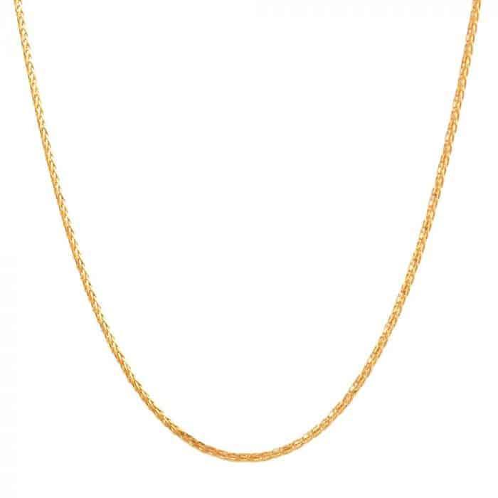 22 Carat Gold Spiga Chain