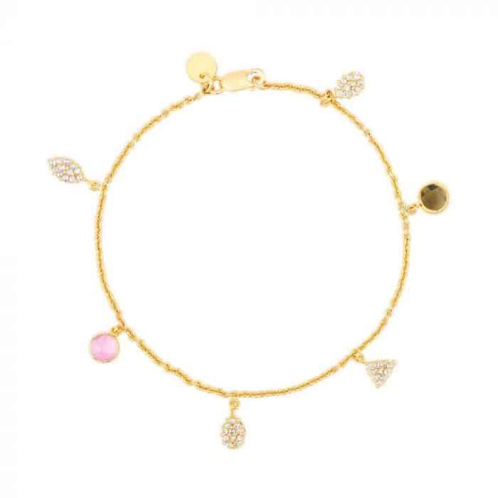 Diya 22ct Gold Uncut Polki Diamond Bracelet