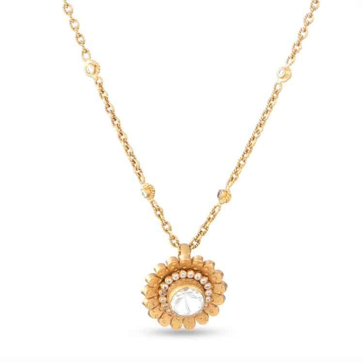 22ct Gold Floral Pendant