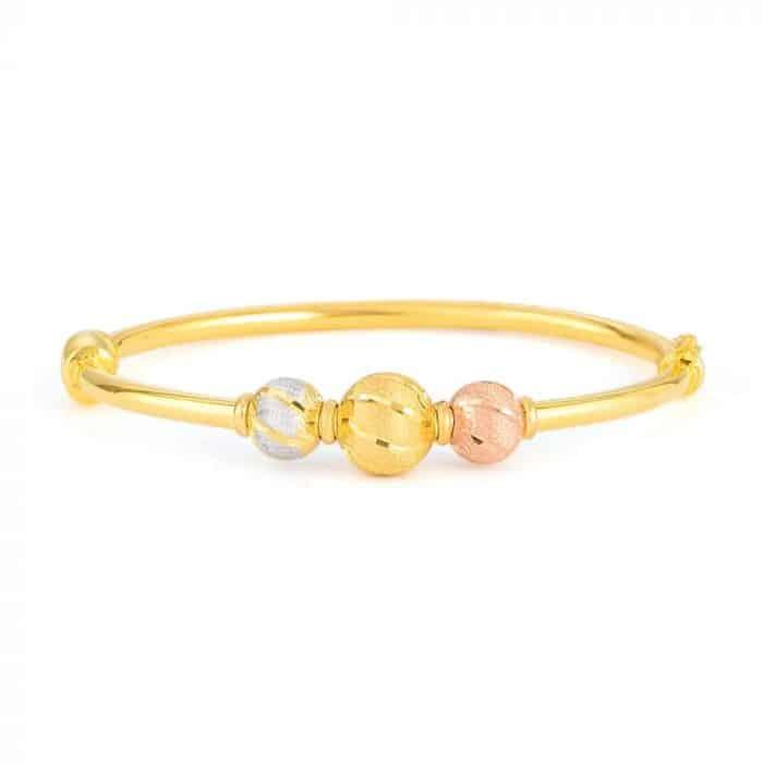 22 carat Gold Sparkle Bangle Bracelet