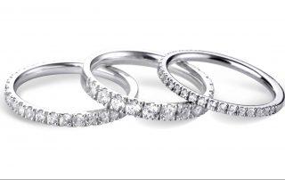 Diamond set Wedding Rings by Dominio