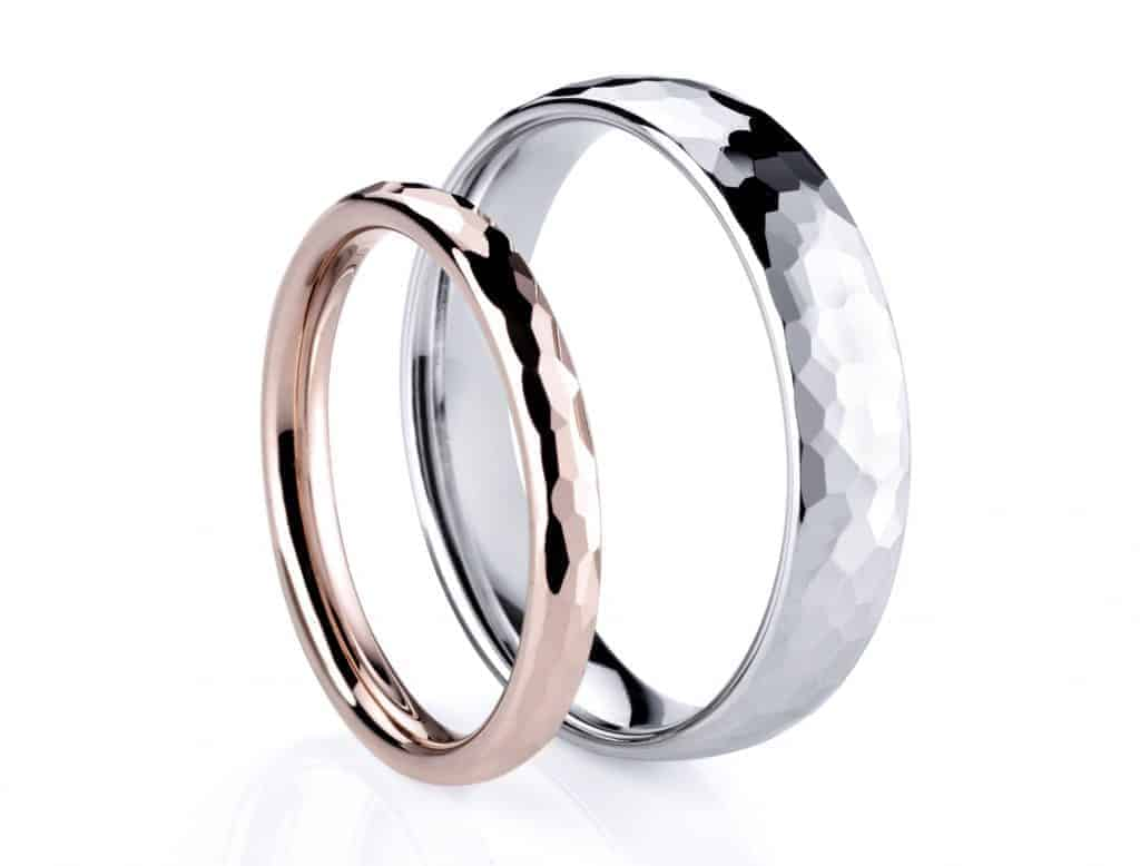 White and Rose Gold Ring by Dominio