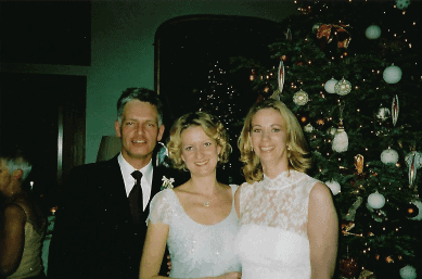 Helen with Tom and Julia on their wedding day