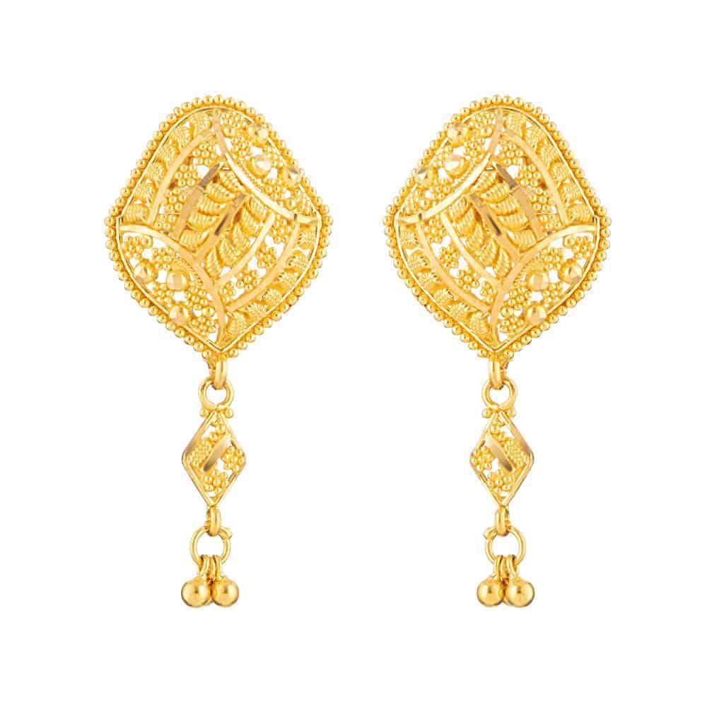 22ct Gold Filigree Earring
