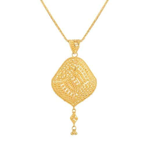 22ct Gold Filigree Pendant